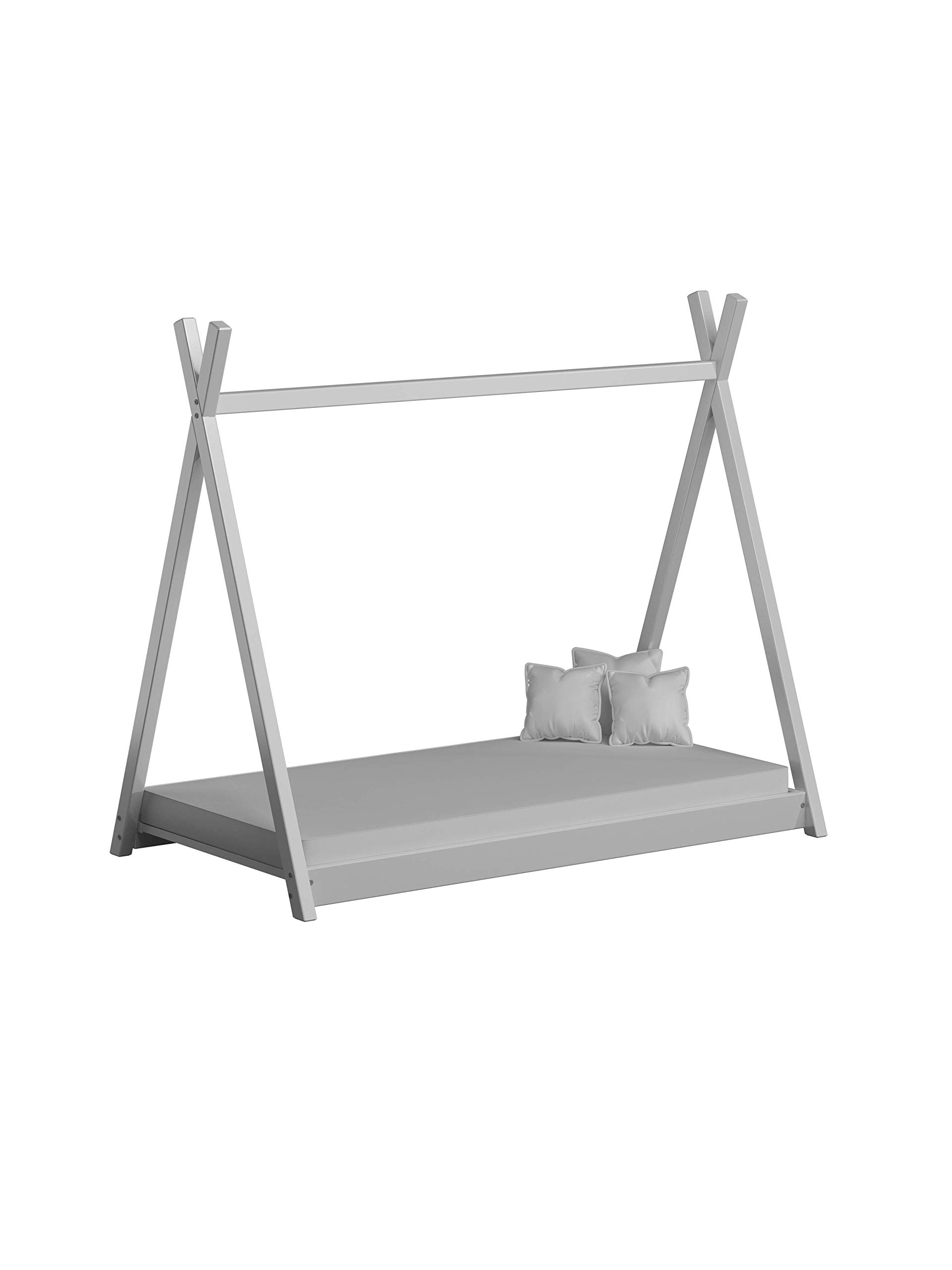 Children's Beds Home Solid Wood Single Canopy Bed - Titus Tepee Style for Kids Children Toddler Junior - No Mattress Included (160x80, White) Children's Beds Home Internal Dimensions in cm's are 140x70, 160x80, 180x80, 180x90, 190x90, 200x90 (External Dimension: 148x83, 168x93, 188x93, 188x103, 198x103, 208x103) Total height up to the top of the structure is 143 cm Made of Solid wood. Has load capacity of up to 190kg, Very Safe Rounded edges on all parts Very Stable and Robust Construction 1