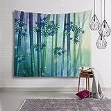 Decorazione della stanza paesaggio decorazione della parete della pittura di paesaggio del arazzo della decorazione della parete, 130 * 150cm, foresta di bambù