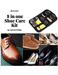 Magnusdeal Travel Shoe Care Shine Brush Kit- Set Of 8 Pieces