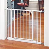 """North States 38.5"""" Wide Easy-Close Baby Gate: The multi-directional swing gate with triple locking system - Ideal for doorway"""
