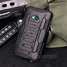 HTC One M7 Funda, Cocomii Robot Armor NEW [Heavy Duty] Premium Belt Clip Holster Kickstand Shockproof Hard Bumper Shell [Military Defender] Full Body Dual Layer Rugged Cover Case Carcasa 801s (Black)