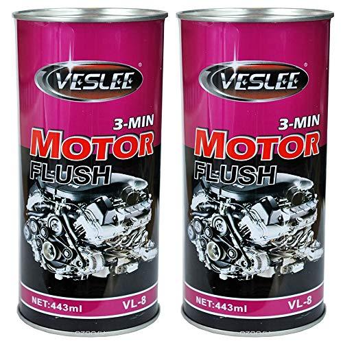 VESLEE FRANCE Nettoyant Moteur Avant Vidange,Lot De 2 Nettoyant Pre Vidange Moteur Et Boite Mécanique Huile Auto Moto 443 ML