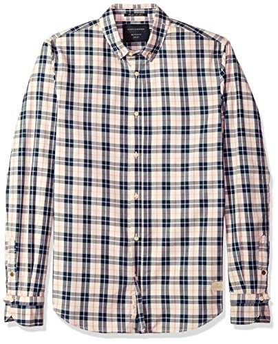 Scotch & Soda Herren Classic Twill Shirt In Yarn-Dyed Check Pattern Button Down Hemd, Combo a, X-Groß -