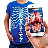 Curiscope Virtuali-Tee | Lehrreiches Augmented-Reality-T-Shirt | Kinder XS (3-4Jahre)