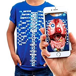 Curiscope Virtuali-Tee | Educational Augmented Reality T-Shirt | Children: XS, Blue