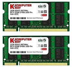 Komputerbay 4GB 2X2GB 667MHz PC2-5300