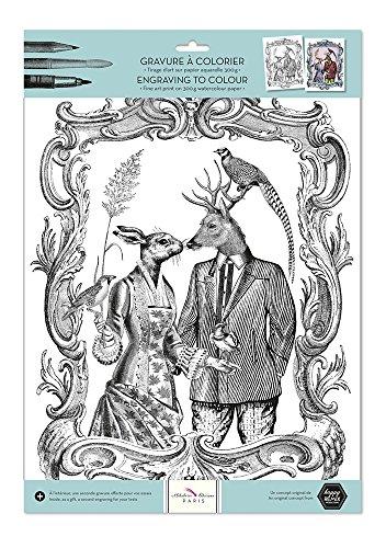 alibabette Editions Paris Gravuren zu Farbe Les Chats de Paris Romantik Romance