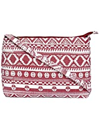 HSC Women Casual Red Canvas Sling Bag