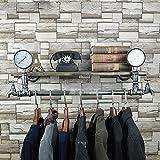 Retro Multifunktionale Wandschlauch Eisen Kleiderbügel Wohnzimmer Schlafzimmer Mode Wandhalterung Industrie Fengshui Kleidung Display-ständer ( Farbe : A , größe : 30*80cm )