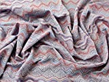 Lurex Glitzer Wave Print Stretch Jersey Kleid Stoff lila–Meterware + Craft Guide