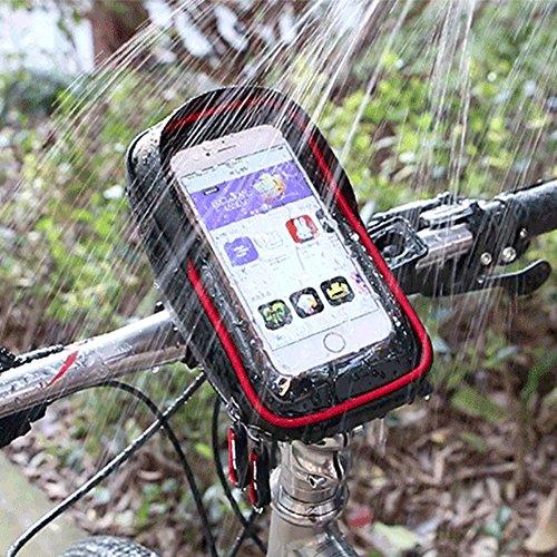 Wasserdicht Fahrrad Tasche unten 15,2cm Touchscreen Handy Taschen Zubehör Schwarz