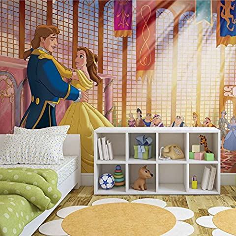 Disney Princesses Belle Beauty Beast - Photo Wallpaper - Wall Mural - EasyInstall Paper - Giant Wall Poster - XL - 208cm x 146cm - EasyInstall Paper - 2