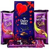 #10: Cadbury Dairy Milk Silk Fruit & Nut, Roasted Almond, Plain Silk & Special Silk Valentine Pack Combo Chocolates, 674g