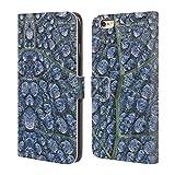 Head Case Designs Offizielle PLdesign Tau Gewebe Blatt Wasser Brieftasche Handyhülle aus Leder für iPhone 6 Plus/iPhone 6s Plus