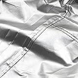 210D Polysterfasern Schneefräse Abdeckung Abdeckplane Wasserdicht Snow Thrower Cover Garage Staubdicht Wetterfest Schutzhülle Abdeckhaube 47x31x24x37 inch mit Tragetasche (Schwarz) - 4