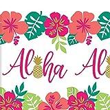 Ananas Hawaii Party - Tischdecke Mottoparty Partytischdecke Beachparty