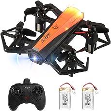 helifar Mini Drohne H802 Mini Quadcopter 2.4Ghz 6-Achsen-Gyro Stabilitätsystem, Automatische Höhenhaltung, One Key Start/Landung, Headless Modus Pocket Drohne für Anfänger (Zwei Batterien)
