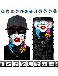 3d impresión mascarilla Handband, máscara escudo, Headwear,, braga para cuello bufanda mágica para hípica, pesca, senderismo, running, protección UV