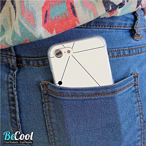 BeCool®- Coque Etui Housse en GEL Flex Silicone TPU Iphone 8, Carcasse TPU fabriquée avec la meilleure Silicone, protège et s'adapte a la perfection a ton Smartphone et avec notre design exclusif. Col L1038