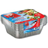 Fun® Indispensable Aluminium Containers with Lids 420CC - Pack of 10