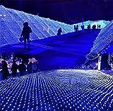 KRISMILEN Luci LED di Natale 1,5 * 1.5 m colore della rete di pesca all'aperto illuminazione sezione decorata illuminazionene decorata illuminazione , blue