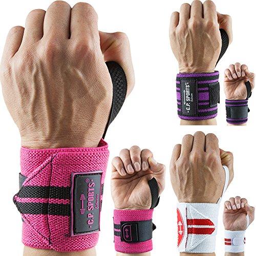 C.P. Sports Bandagen Handgelenk 30 cm Weiß/Rot, One size -