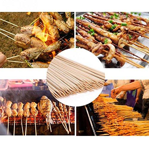 61xssALtuoL - Lumanuby 90 x Holz Grillspieße Marinaden Sticks, Einweg-Grill Utensilien Bambus Party Sticks, perfekt für BBQ Fleisch, Steaks vieles mehr (20 cm)