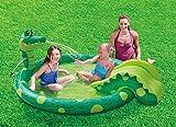 Summer Waves Planschbecken Kinderpool Krokodil mit Rutsche 196 x 165 x 66 cm -