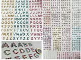 180 Stück Buchstaben aus verschiedene glitzernde Strasssteine selbstklebend ABC Alphabet Buchstaben basteln Sticker Gltzersteine Schmucksteine Strass Steine Mischung Herz Rund Quadratisch...