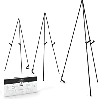 Arteza Chevalet en acier noir | Pack de 3 | 160 cm | Chevalet peinture ou posters | Assemblage facile pour présentations…