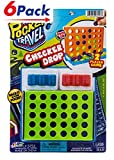 Pocket Travel Checker Drop by 2GoodShop   Portable Board Game Bring this Classic Game Everywhere You Go Pack of 6   Item #3253
