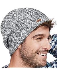 3570e77854d LETHMIK Winter Beanie Skull Cap Warm Knit Fleece Ski Slouchy Hat for Men    Women Mix