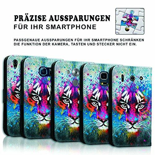 Wallet Book Style Flip Handy Tasche Case Schutz Hülle Schale Motiv Etui für Apple iPhone 6 Plus / 6S Plus - Variante UMV10 Design12 Design 1