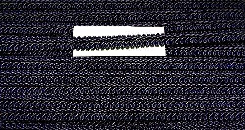 2 m Posamentenborte dunkel blau/marine 10 mm