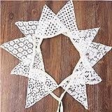 Yiuswoy Schöne Stoff Wimpel Banner Geburtstag Girlande Bunting Vintage Wimpelkette für Draußen Hochzeit - Modell A