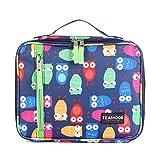 TEAMOOK Kühltasche Lunch Tasche Isoliertasche Lunchbox für Frauen Männer und Kinder 5L Retro Eule
