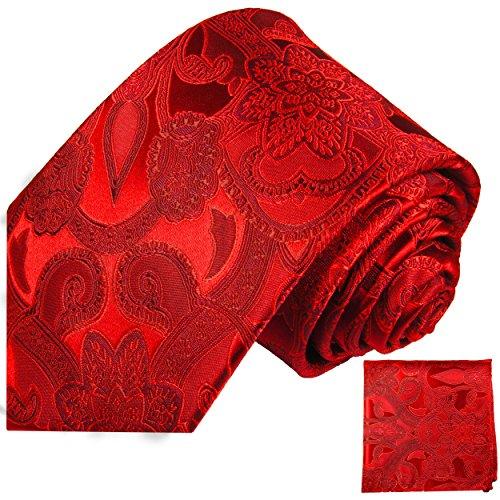 Cravate homme rouge paisley ensemble de cravate 2 Pièces ( longueur 165cm )