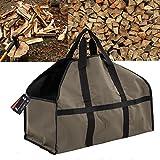 CyberDyer Holz Log Carrier Robust 66cm (L) X 25,4cm (W) X 30,5cm (H) Große Größe Tragetaschen Brennholz Tasche für Outdoor Picknick Kamin Strand Etc.