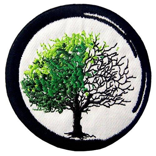 (Aufnäher, Bestickt, Design: Zen von der Geburt bis Zum Tod Buddhismus, Zum Aufbügeln Oder Aufnähen)