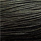 10 Mètres de fil cordon coton ciré pour creation bracelet shamballa,tibétain... - Noir / 1 mm