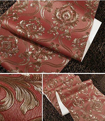 Sucastle®,Europäische Vliestapeten, Schlafzimmer Wohnzimmer Tapeten, grünen Tapete (Teal Decor Tabelle)