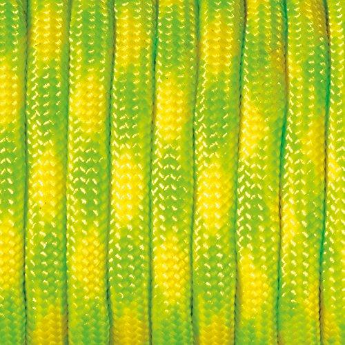 Paracord 4 x 50 mm Multicolore, jaune, vert