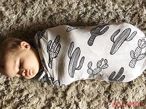 kolamom Wickeltuch aus Musselin Baby Decken 119,4x 119,4cm Zoll groß Kinderzimmer Einschlagdecke Dusche Geschenk-Sets atmungsaktiv weicher Baumwolle für Jungen für Mädchen