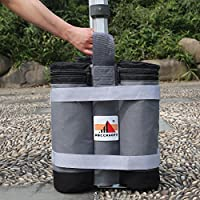 ABCCANOPY Pop Up Gazebo Bag Super Heavy Duty New Premium Instant Shelters Weight Bags- Set of 4 (grey/black weight bag)