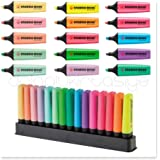 STABILO Lot de 3 Surligneurs BOSS ORIGINAL Pastel Pte Biseautée 2-5 mm Vert pastel