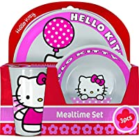 Hello Kitty BBS GO ON - Vajilla infantil, 3 piezas, estampada