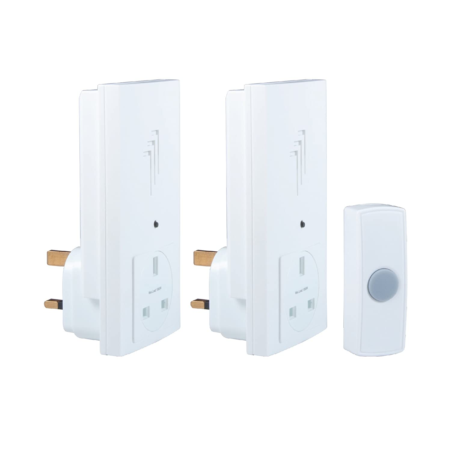 byron db333 30m wireless twin plugthrough door chime kit with 1 sound amazoncouk diy u0026 tools