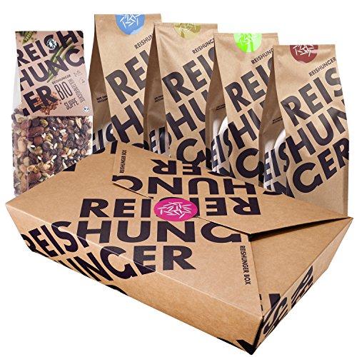 Preisvergleich Produktbild Reishunger Fitness Box - Die besten Reis- und Getreidesorten für eine ausgewogene Sportler Ernährung aus biologischem Anbau - Perfekt als Geschenk