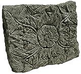 STONE art & more Blüten-Relief 2er-Set, grüner Lavastein, Naturstein, frostfest