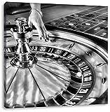 Pixxprint Tavolo della Roulette di Las Vegas 70x70 cm Stampa su Tela Decorazione